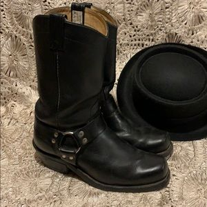 FREE Shipping Men's leather harness boots